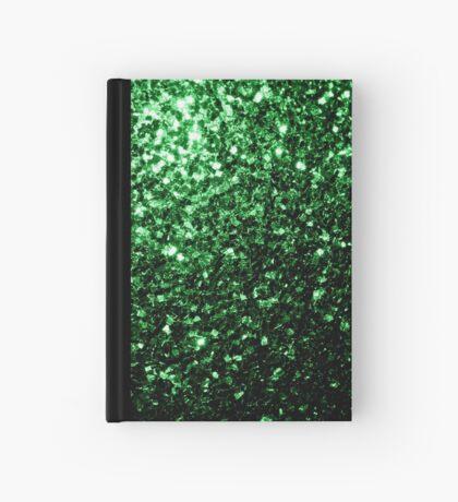 Beautiful Glamour Dark Green glitter sparkles Hardcover Journal