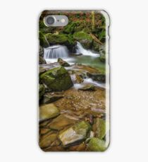 small cascade on the river among boulders iPhone Case/Skin