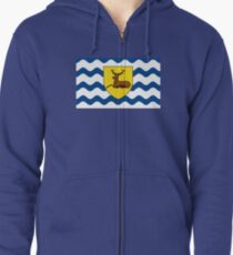 Flag of Hertfordshire, England Zipped Hoodie