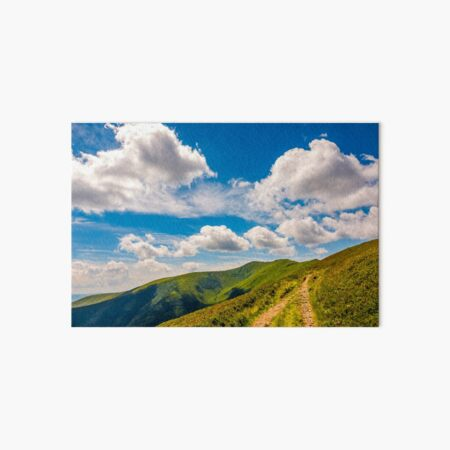 beautiful summer landscape in mountains Art Board Print