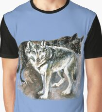 Timber wolf over blue (c) 2017 Graphic T-Shirt