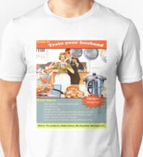 Train your husband, funny vintage advertisement T-Shirt