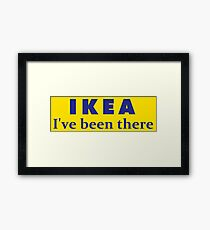 IKEA I've been there Line  Framed Print