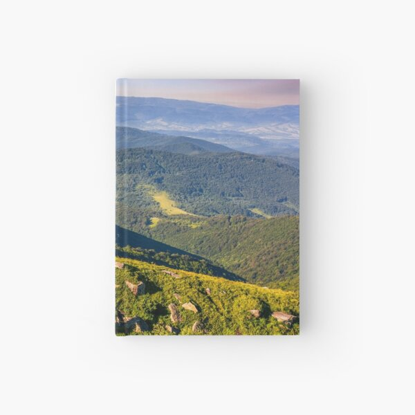 meadow with boulders in Carpathian mountains in summer Hardcover Journal