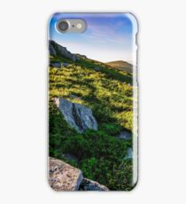 hillside with boulders in Carpathian mountains in summer iPhone Case/Skin