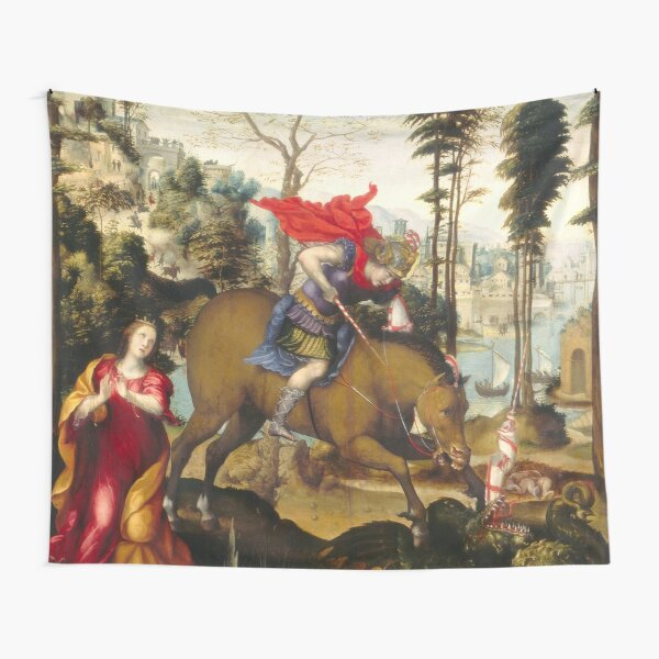Saint George and the Dragon Oil Painting by Sodoma Tapestry
