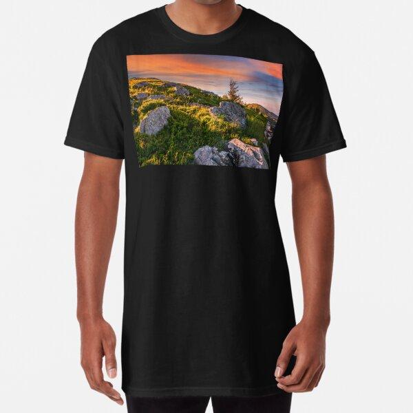 epic landscape in Carpathian high mountain ridge Long T-Shirt