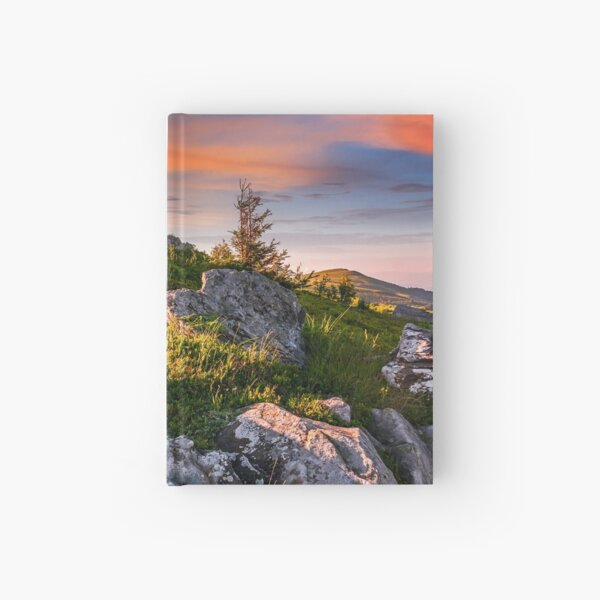 epic landscape in Carpathian high mountain ridge Hardcover Journal
