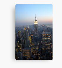 Manhattan by Night Canvas Print
