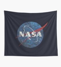 NASA Vintage Emblem Wall Tapestry
