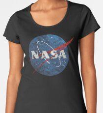 Camiseta premium de cuello ancho Emblema vintage de la NASA