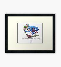 Rag doll Sonic the Hedgehog Framed Print