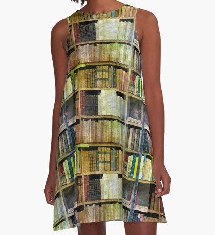 Antique Books A-Line Dress