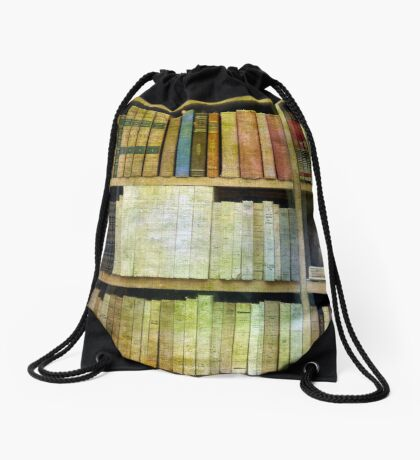 Antique Books Drawstring Bag