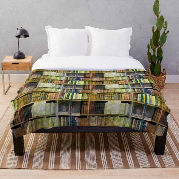 Antique Books Throw Blanket