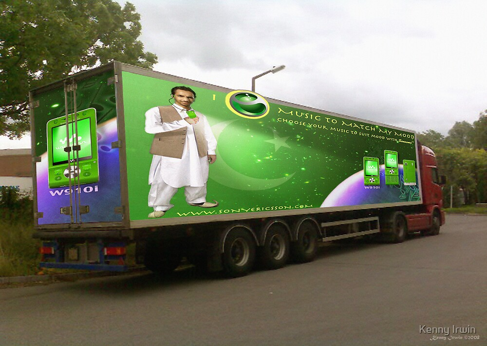Pakistan's 60TH Anniversary) Sony Ericsson W910i Mobile Phone as seen on a Lorry. by Kenny Irwin