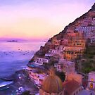 Twilight In Positano Italy by daphsam