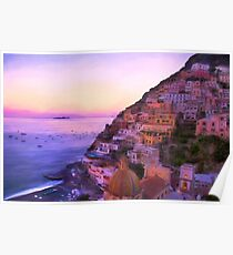 Twilight In Positano Italy Poster