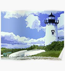 The EdgarTown Lighthouse Poster