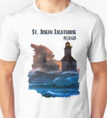 St Joseph Lighthouse during a storm T-Shirt