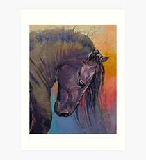 Friesian Horse Art Print