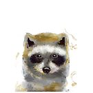 Golden Forest Raccoon by mindydidit