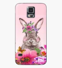 Bunny with flowers Case/Skin for Samsung Galaxy