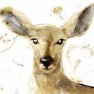 Golden Forest Deer by mindydidit