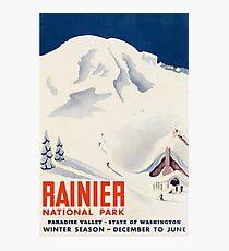 Rainier National Park Washington State USA Travel Decal Photographic Print