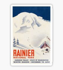 Rainier National Park Washington State USA Travel Decal Sticker
