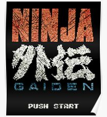 Ninja Gaiden Vintage Emblem Poster
