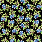 Wild Blueberry Sprigs  by PatriciaSheaArt
