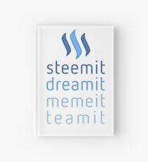 Steemit.com - Dream it, Meme It, Team it - Steemit! (Blue) Hardcover Journal