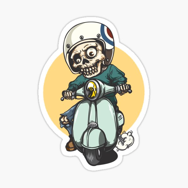 Vespa skull Sticker