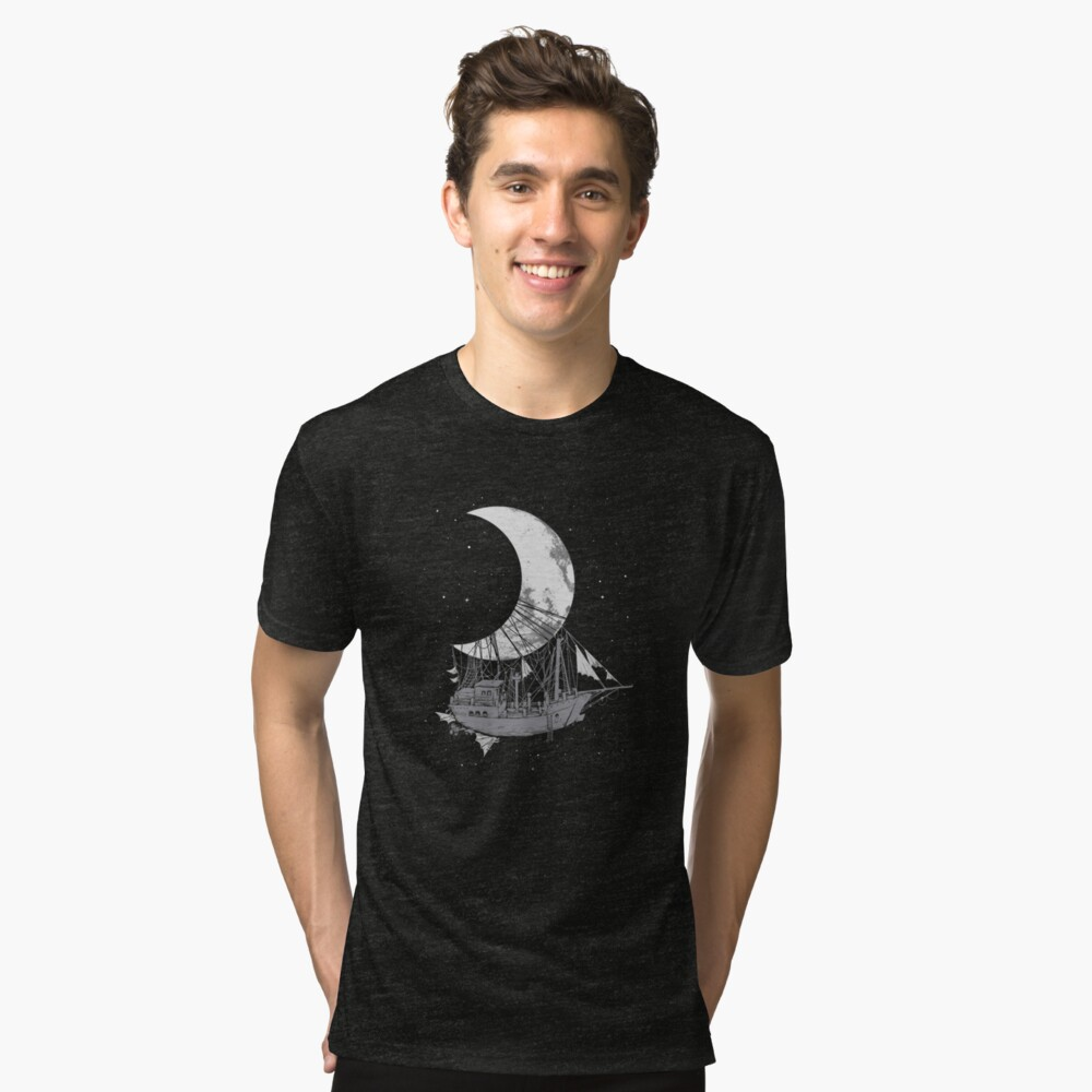 Moon Ship Tri-blend T-Shirt