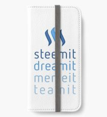 Steemit.com - Dream it, Meme It, Team it - Steemit! (Blue) iPhone Wallet/Case/Skin