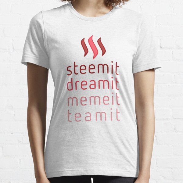 Steemit.com - Dream it, Meme It, Team it - Steemit! (Red) Essential T-Shirt