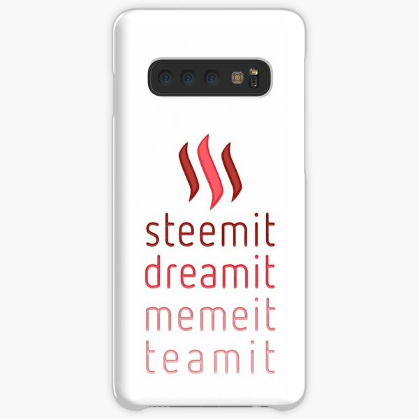 Steemit.com - Dream it, Meme It, Team it - Steemit! (Red) Samsung Galaxy Snap Case