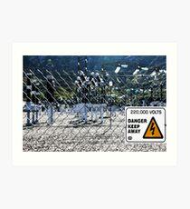 Turlough Hill Power Plant Sign Art Print