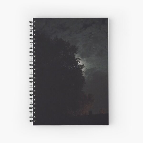 Night Moon and Trees Spiral Notebook