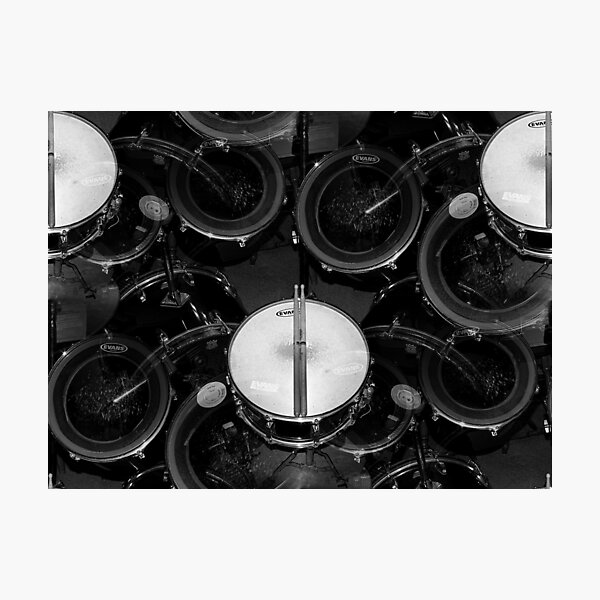 My favorite thing in the world..drums everywhere☺☺☺ Photographic Print