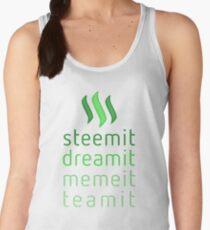 Steemit.com - Dream it, Meme It, Team it - Steemit! (Green) Women's Tank Top