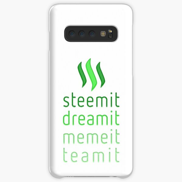 Steemit.com - Dream it, Meme It, Team it - Steemit! (Green) Samsung Galaxy Snap Case
