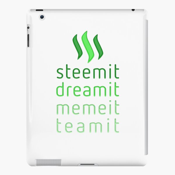 Steemit.com - Dream it, Meme It, Team it - Steemit! (Green) iPad Snap Case
