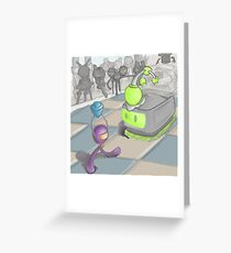 Daisy the Robot Greeting Card