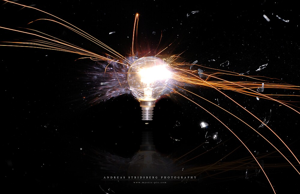Exploding Bulb by Andreas Stridsberg