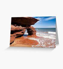 Red Rock Arch, Prince Edward Island, Canada Greeting Card