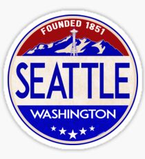 Seattle Washington Mount Rainier National Park Sticker