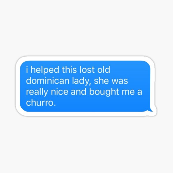 ayudé a esta anciana perdida Pegatina