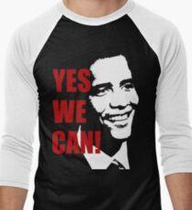 Yes We Can Obama  Men's Baseball ¾ T-Shirt